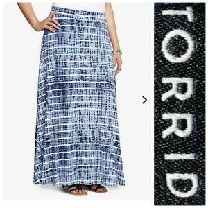 Torrid tiedye maxi skirt